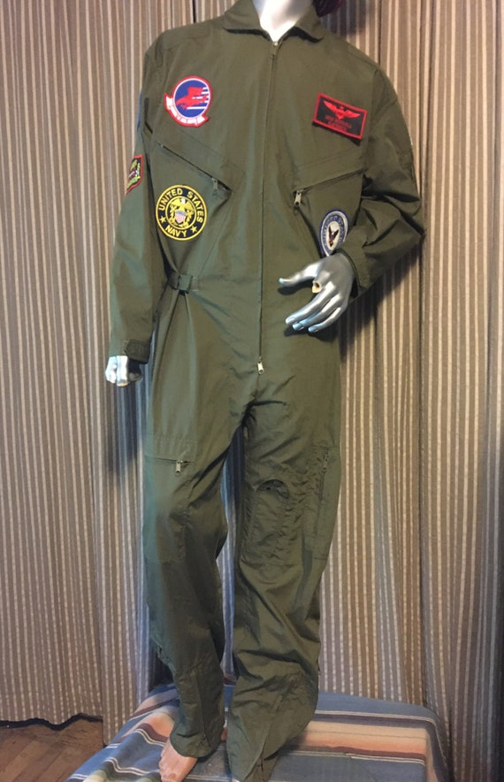 Military green flight suit