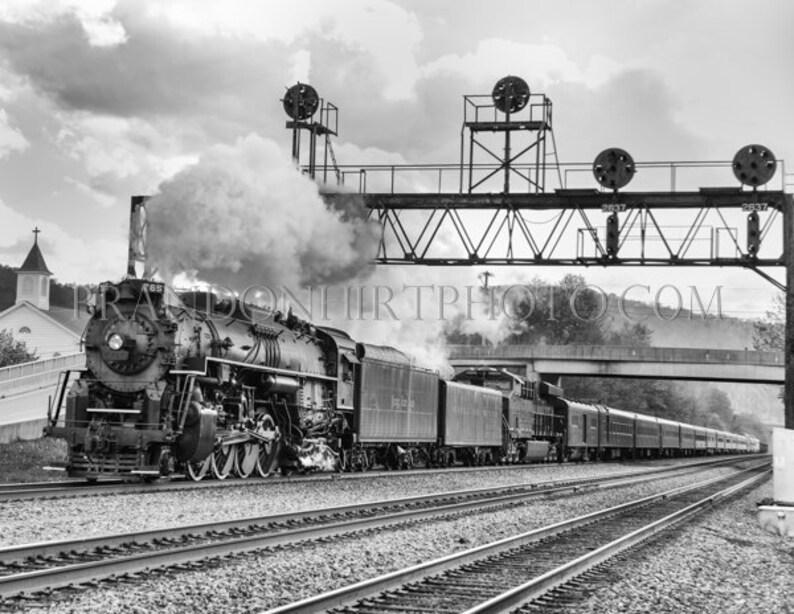 Summerhill Steam Engine Locomotive PRR Mainline Cresson Pennsylvania  Railroad Train Johnstown Industrial Black and White cambria county