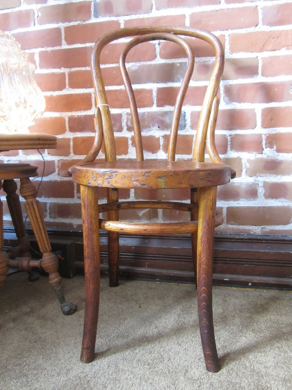 image 0 - VINTAGE BENTWOOD CHAIR Antique Bentwood Chair Etsy
