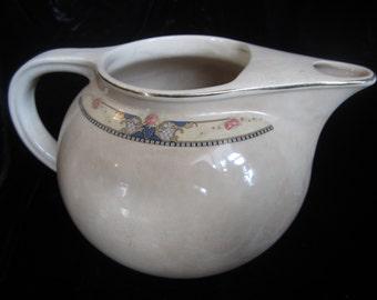 VINTAGE CREAMY PITCHER, Beautiful milk pitcher