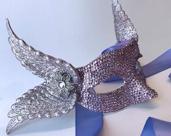 Lavender Pegasus Masquerade Mask