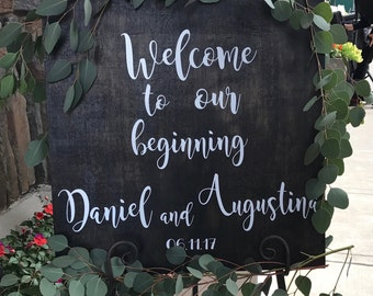 Welcome sign. Bridal Shower Decal Sign, personalized