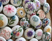 50 buttons embroidery hand made
