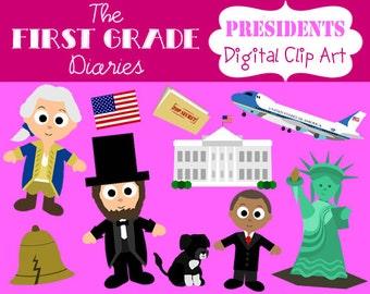 American President Digital Clip Art --BUY 2, GET 1 FREE