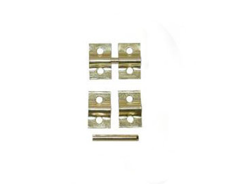 1900-1950 Cabinets & Cupboards Steel Friction Catch With Brass Finish D1481