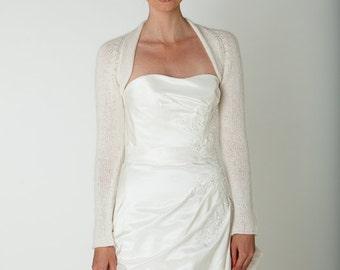 Wedding Shrug Cashmere Merino soft wedding jacket, bridal coverup, handmade cardigan for your wedding or evening dress - wedding accessory
