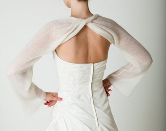 Wedding Bolero scarf stole mohair and cashmere