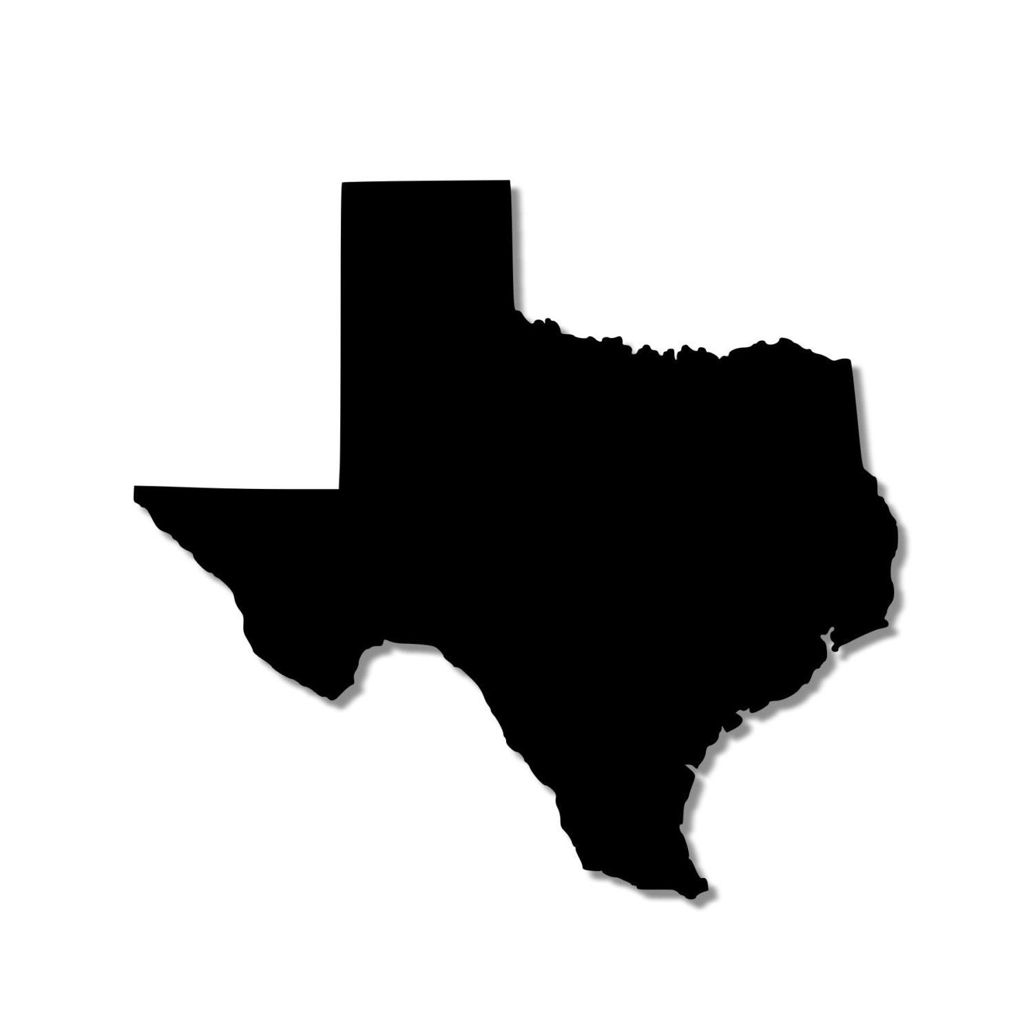 Silhouette Texas State of Texas Silhouette Outline Stencil wood sign