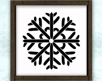 Snowflake Winter Stencil // reusable // wall decor // painting // craft