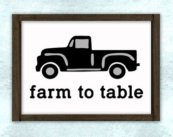 Farm to Table Vintage Truck Stencil // DIY sign // wall decor // painting // craft