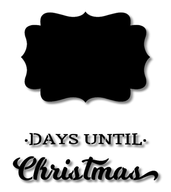 Days Until Christmas Countdown.Days Until Christmas Countdown Stencil Wood Sign Wall Decor Painting Craft