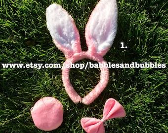Womens Deluxe Black Plush Bunny Ears