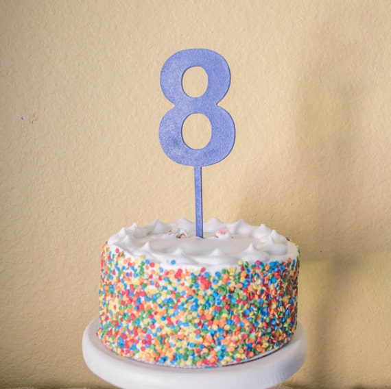 Number Eight Birthday Cake Topper Wood 8