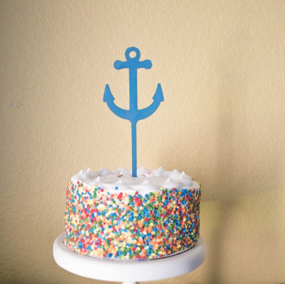 Marvelous Anchor Nautical Baby Shower Birthday Cake Topper Etsy Funny Birthday Cards Online Alyptdamsfinfo