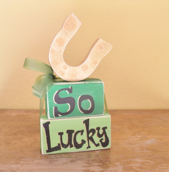 St. Patrick's Day Wooden Block Shelf Sitters
