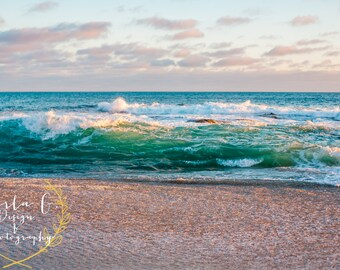A Beautiful Ocean Wave at the Montage in Laguna Beach, California, Wall Art Photography