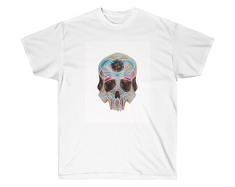 Art Deco Skull Unisex Ultra Cotton Tee