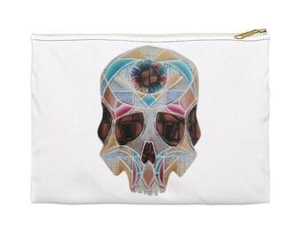 Art Deco Skull Accessory Pouch
