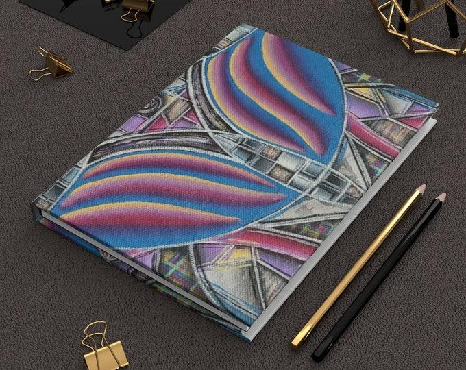 Rainbow Wave- Hardcover Journal Matte