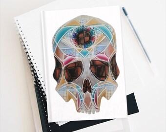 Art Deco Skull Journal - Ruled Line