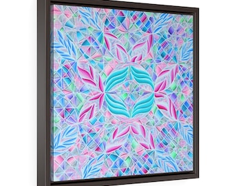 Cotton Candy: The Metamorphosis of Square Framed Premium Gallery Wrap Canvas