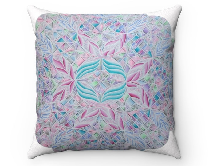 Cotton Candy: The Metamorphosis Of Faux Suede Square Pillow