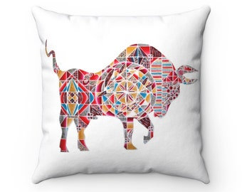 Year of the Ox Spun Polyester Square Pillow