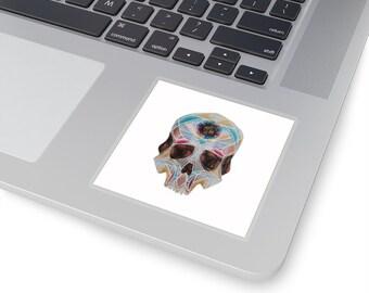 Art Deco Skull Kiss-Cut Stickers