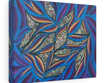 Birds of Paradise Canvas Gallery Wrapped Print