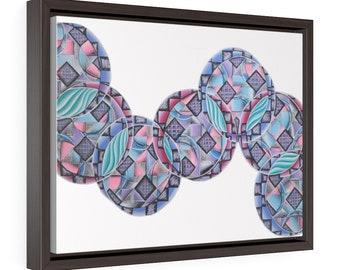 Bubbles Horizontal Framed Premium Gallery Wrap Canvas