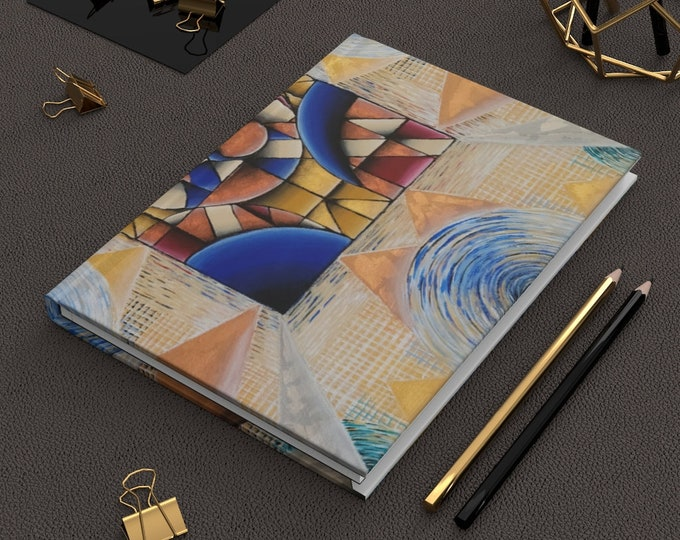 Blurred Deco- Hardcover Journal Matte