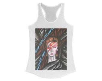 Bowie Ziggy Stardust Women's Ideal Racerback Tank