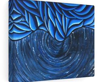 Icy Vortex Canvas Gallery Wrapped Print