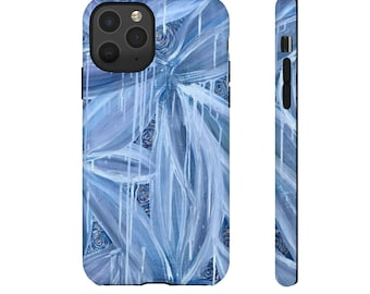 Specter Blue and White Abstract Tough Cases