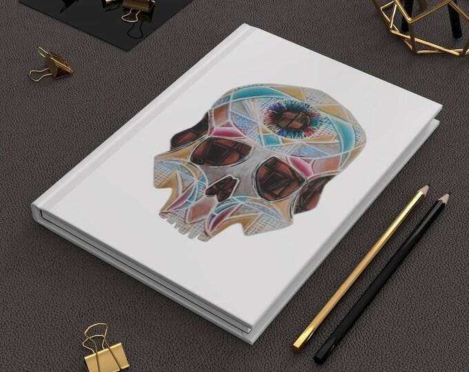 Art Deco Skull- Hardcover Journal Matte