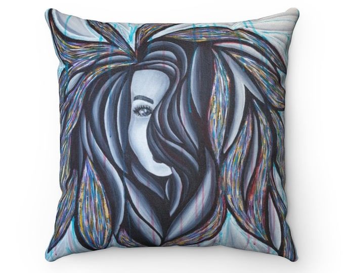 Persephone Faux Suede Square Pillow