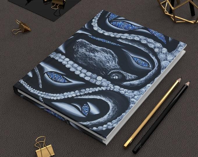 Mr MusclePuss- Octopus- Hardcover Journal Matte