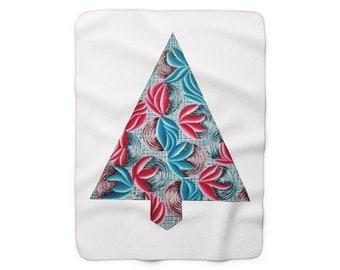 Sinewy Deco Sherpa Fleece Blanket
