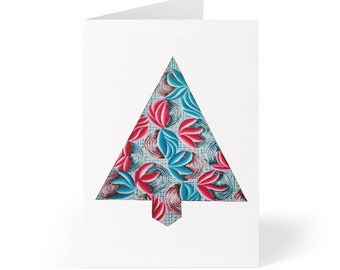 Sinewy Holiday Tree Greeting Cards (8 pcs)