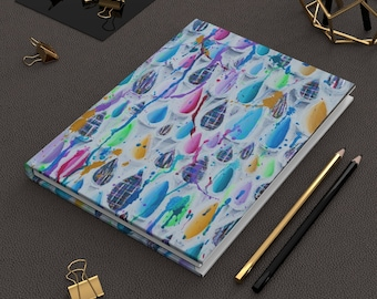 Splash- Colorful Abstract- Hardcover Journal Matte