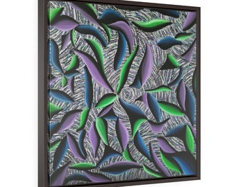 Electric Vibe Square Framed Premium Gallery Wrap Canvas