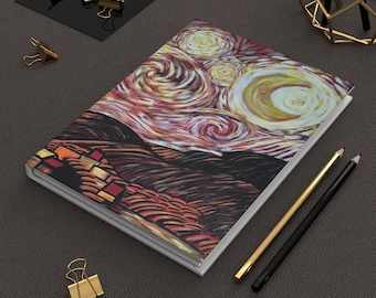 Starry Night in Hell-Hardcover Journal Matte