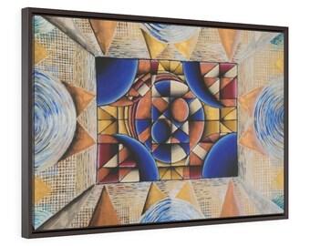 Blurred Deco Horizontal Framed Premium Gallery Wrap Canvas
