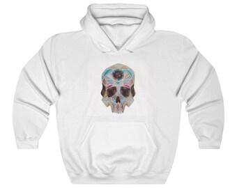Art Deco Skull Unisex Heavy Blend Hooded Sweatshirt