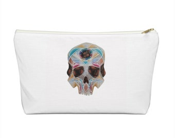 Art Deco Skull Accessory Pouch w T-bottom