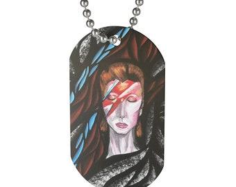 David Bowie Ziggy Stardust Dog Tag