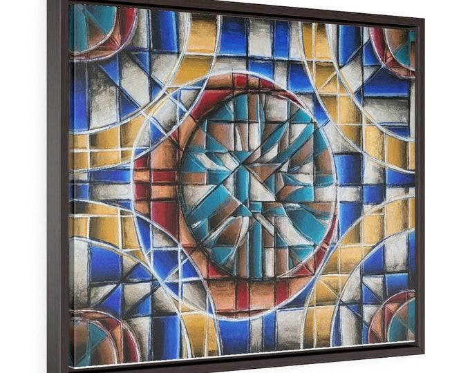 Luna Deco Horizontal Framed Premium Gallery Wrap Canvas