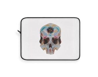 Art Deco Skull Laptop Sleeve