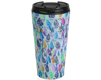 Splash Colorful Abstract Stainless Steel Travel Mug