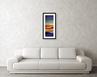 Ocean Sunset 5x15 inch print (frame not included)